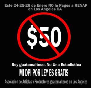 La Asociación de Artistas y Productores guatemaltecos ha iniciado una campaña de protesta contra el costo del DPI en el extranjero. Fotografía: LA VOZ, Jacobo Ortiz.