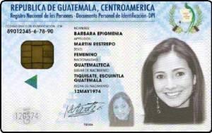 Ejemplar del DPI, documento único oficial de identificación para los guatemaltecos. Fotografía: LA VOZ/wikipedia.
