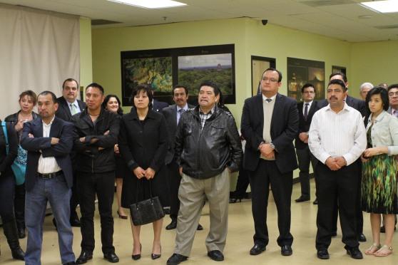 Líderes comunitarios participantes en las reuniones de trabajo. Fotografía: LA VOZ-AURORA SAMPERIO