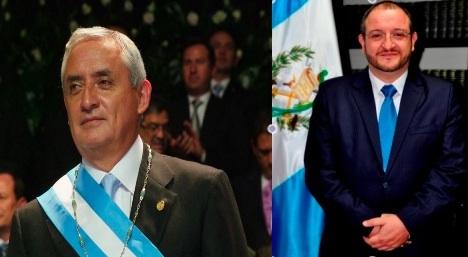 Presidente de Guatemala, Otto Pérez Molina, izquierda; Canciller guatemalteco, Fernando Carrera, derecha. FOTOGRAFIAS: LA VOZ-Gobierno de Guatemala; MINEX