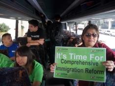 La guatemalteca Aurora Ureta apoya el movimento en pro de la Reforma Migratoria. FOTOGRAFÍA: LA VOZ