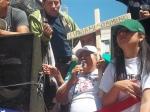 Rosa Paredes, Presidente de UGE, al momento de hacer un llamado a la unión de la comunidad latina. FOTOGRAFÍA: LA VOZ