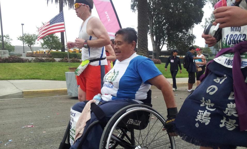 Maratonista guatemalteco, Carlos Gónzalez.