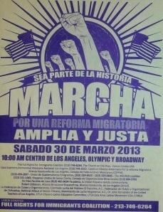 UGE, MCTG y diversas organizaciones invitan a la marcha en favor de la reforma migratoria. FOTOGRAFÍA: LA VOZ