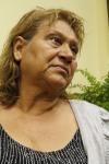Irma Yolanda López Pérez, todavía afectada por la noticia, agradeció a los funcionarios el apoyo que le han brindado. Fotografía: La voz-Aurora Samperio