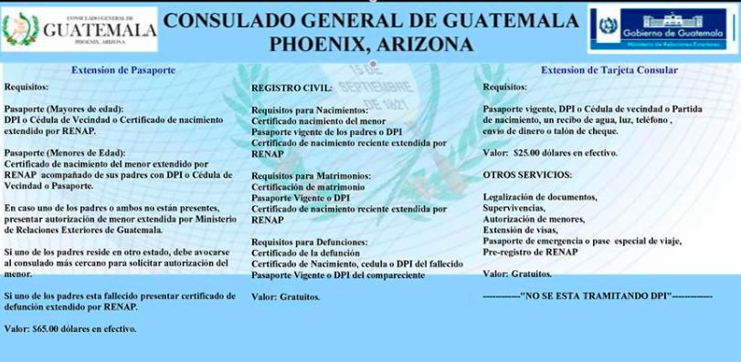 CONSULADO GENERAL DE GUATEMALA EN PHOENIX, ARIZONA