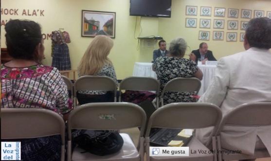 Líderes comunitarios guatemaltecos expresaron sus preocupaciones e inconformidades  en reunión sostenida con el Canciller de Guatemala, Fernando Carrera. Fotografía: La Voz