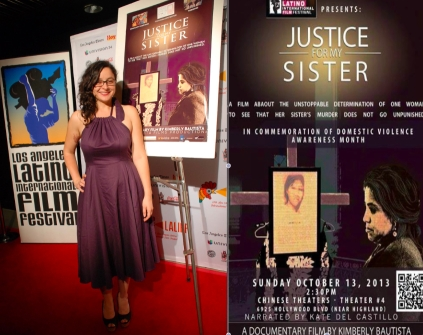 """Kimberly Bautista es la productora y directora del documental ganador del XVI Festival de Cine Latino de Hollywood, con su obra """"Justicia para mi hermana"""". Fotografía: La Voz-facebook Kimberly Bautista."""