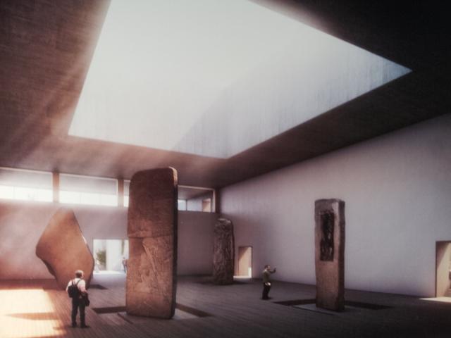El Salón de las Estelas tendrá una altura de 14 metros, con capacidad para albergar piezas de gran tamaño.