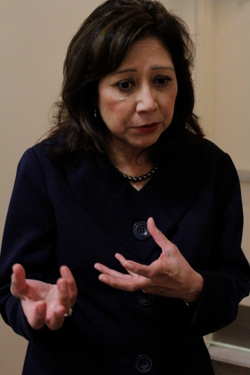 La ex Secretaria de Trabajo de EUA, Hilda Solís, señaló que líderes republicanos reconocen la importancia de alcanzar la reforma migratoria. Fotografía: Cortesía de Aurora Samperio