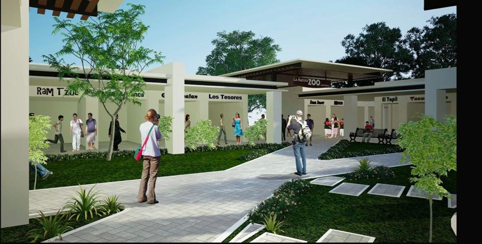 La propuesta para el nuevo mercado de artesanías en la zona 13 de la Ciudad de Guatemala contará con zonas techadas. Fotografía: Fundación Ruta Maya