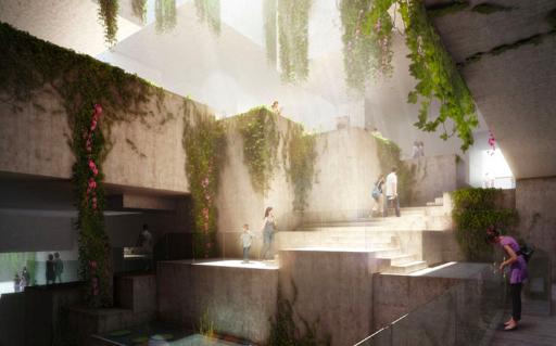 Representación de lo que serán los jardines del Museo del Mundo Maya. Fotografía: La Voz-Fundación Museo Maya de América