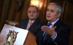 El Presidente de Guatemala, Otto Pérez, en rueda de prensa para informar sobre la situación de los menores guatemaltecos inmigrantes detenidos en Estados Unidos de América. Fotografía: Presidencia de Guatemala