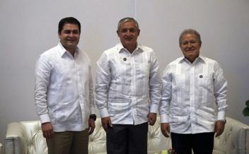 Los Presidente de los países del Triángulo Norte de Centroamérica se reunirán con el Presidente de los Estados Unidos de America, Barack Obama. Fotografía: Presidencia de Guatemala
