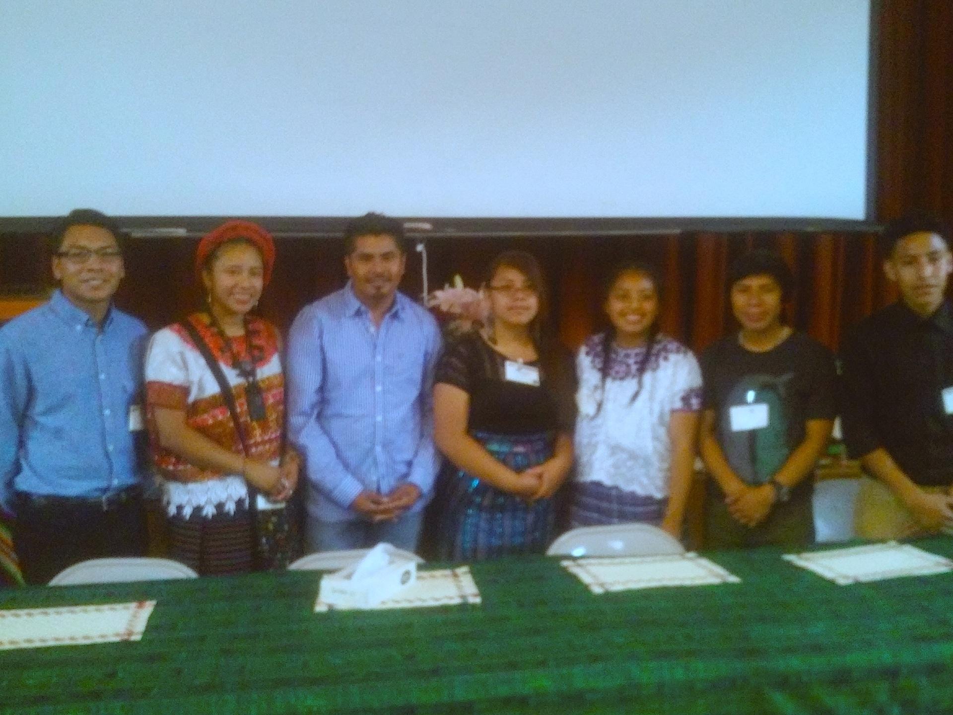 Líderes juveniles de la Pastoral Maya en los Estados Unidos de América. Fotografía: La Voz