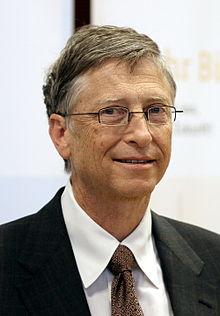 Bill Gates, Ex Presidente de Microsoft y Co Presidente de la Fundación Bill y Melinda Gates. Fotografía: Wikipedia