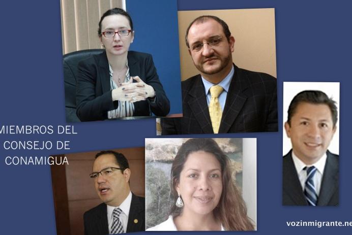 Miembros del Consejo de CONAMIGUA que aprobaron las modificaciones al Reglamento Interno de Asesores. Infografía: La Voz