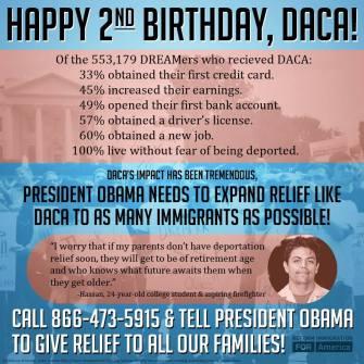 Infografía elaborada por CHIRLA en la que se ofrecen datos estadísticos del impacto positivo del DACA.
