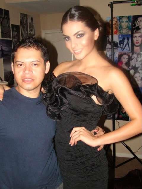 Con Ximena Navarrete, Miss Universo 2010
