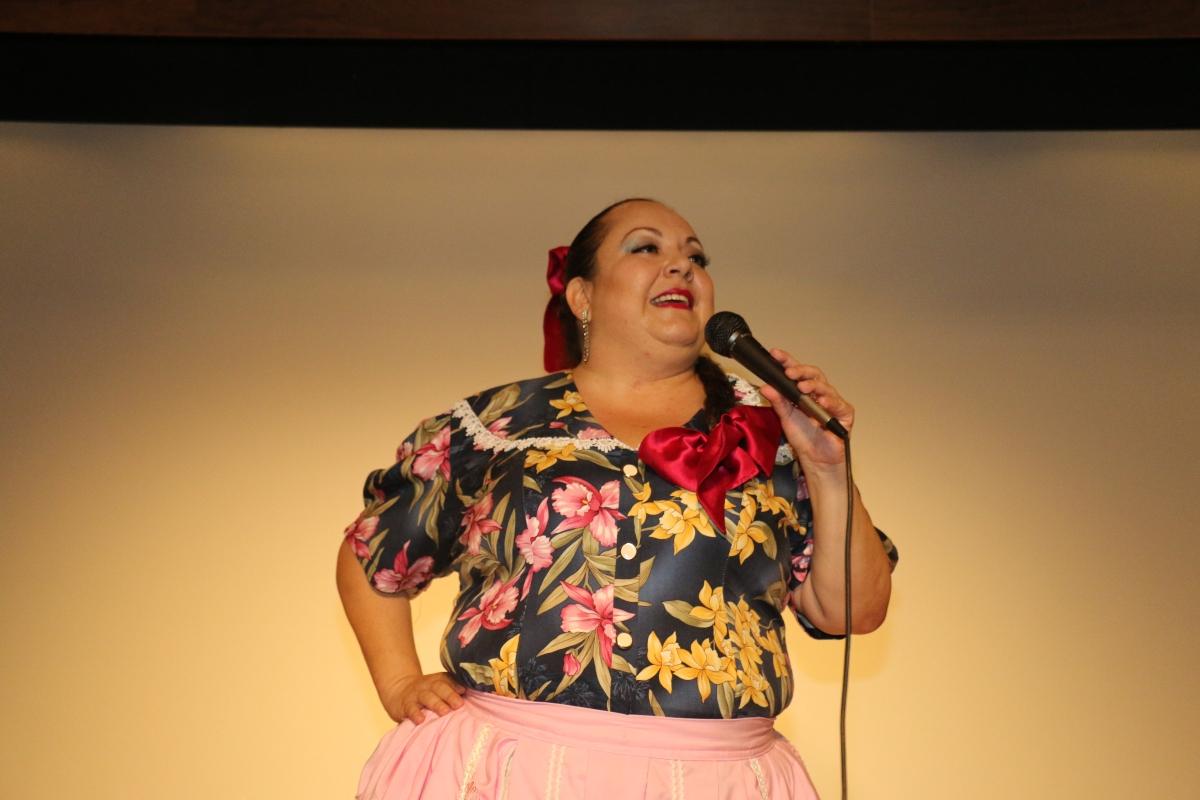 La actriz, comediante, escritora y líder de opinión se solidarizó con los inmigrantes guatemaltecos. FOTOGRAFÍA: MAYNOR VENTURA