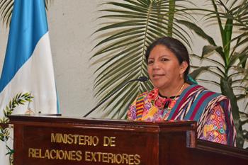 Marta Eulalia Estrada Xicara, de origen maya guatemalteco, es la nueva Vice Ministra de Relaciones Exteriores de Guatemala. Fotografía: MINEX