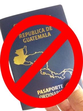 no hay pasaporte guatemala